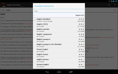 Offline dictionaries pro- screenshot thumbnail