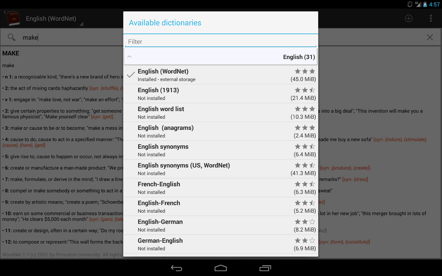 Offline dictionaries pro Screenshot 6