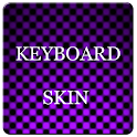 Violet Carbon Keyboard Skin icon