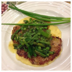 Veal Scaloppine with Asparagus and Sweet Peas