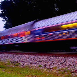 Amtrak at Dusk by Stephen Barrett - Transportation Trains (  )