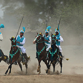 Warriors by Abdul Rehman - Sports & Fitness Other Sports ( pakistan, multan, tent, horse rider, pegging )