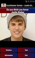 Screenshot of QuizMaster - Justin Bieber