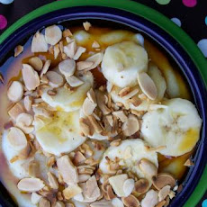 Creamy Cream of Wheat Cereal With Maple Syrup and Bananas
