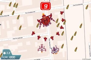 Screenshot of GPS Invaders