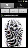 Screenshot of Fingerprint Matcher