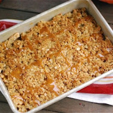Caramel Apple Ginger Crumble