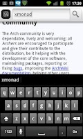 Screenshot of AWOL: ArchWiki Offline