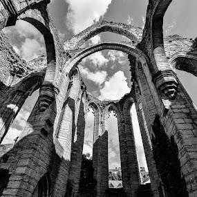 The Church Ruin in Visby by Ethan Fox Miles - Buildings & Architecture Places of Worship ( clouds, sweden, old, sky, gotland, ruins, travel, architecture, island,  )