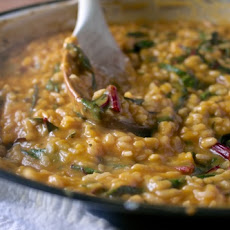 Butternut Squash Risotto With Chard