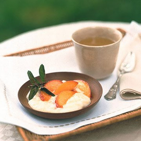 Old-Fashioned Tapioca with Sauteed Nectarines