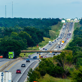 On the road again by Joseph Martinez - Transportation Roads ( truck, green, cars, d5200, trees, road, nikon, landscape, roads )