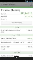 Screenshot of BayPort CU Mobile Banking