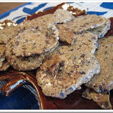 Gluten Free Flax Poppy Crackers