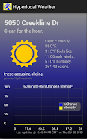 Screenshot of Hyperlocal Weather