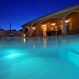 by Davor Strenja - Buildings & Architecture Homes ( water, pool, stars, croatia, enjoy, house, zadar )