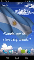 Screenshot of 3D Argentina Flag LWP