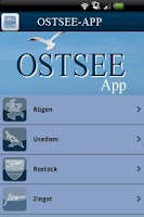 Screenshot of Ostsee-App