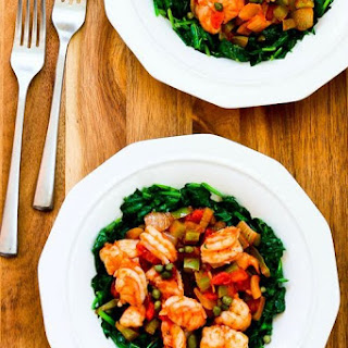 Mediterranean Shrimp over Spinach (Low-Carb, Paleo)