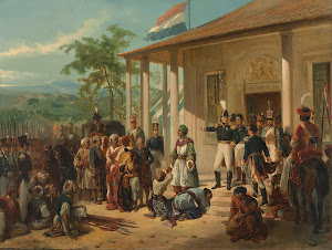 RIJKS: Nicolaas Pieneman: The Arrest of Diepo Negoro by Lieutenant-General Baron De Kock 1835