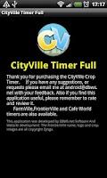 Screenshot of CityVille Crop Timer (Full Ed)