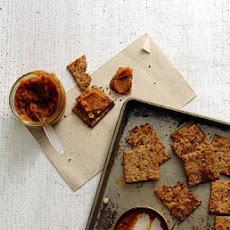 Flaxseed, Fig, and Walnut Crackers