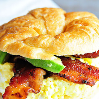 Egg Salad Sandwich with Bacon and Avocado