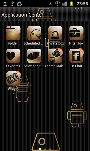 GO SMS My Gold Pro Theme