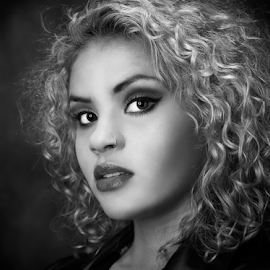 Glamour Girl by Marie Otero - People Portraits of Women ( model, monochrome, black and white, female, woman, portrait )