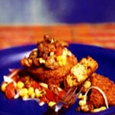 Couscous Fritters with Fresh Corn and Tomato Salsa