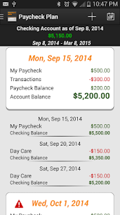 Paycheck Plan (Pro) screenshot for Android