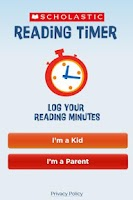 Screenshot of Scholastic Reading Timer