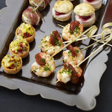 Prawn & Chorizo Skewers With Gremolata