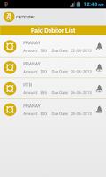 Screenshot of Debit and Credit Reminder
