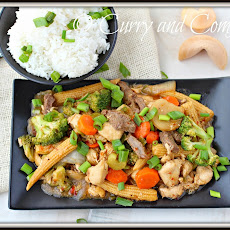 Double Delight- Chicken and Beef Stir Fry #kitchendrawercontest