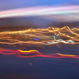 Highway Lights by Leonardo Quiros - Abstract Light Painting