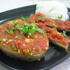 Urmila's Baked Potato and Eggplant Curry