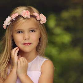 Flower Girl by Emby Taylor Photography - Babies & Children Child Portraits ( child, children, flowers, flower crown, portrait )