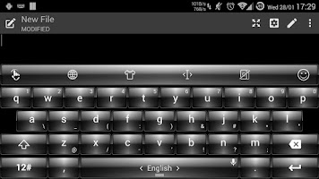 Screenshot of Theme TouchPal Dusk White