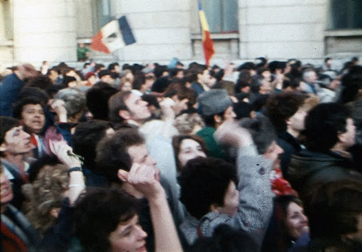 Demonstrators against Ceaușescu