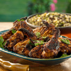 Charcoal Grilled Chicken Sinaloa-Style with Grilled Corn, Black Bean and Quinoa Relish