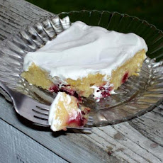Lemony Cherry or Berry Poke Cake