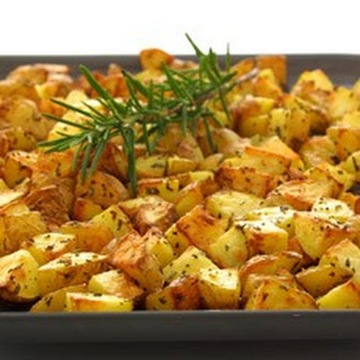 Oven-roasted Potatoes with Garlic and Rosemary Recept | Yummly