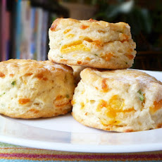 Bread Baking: Cheddar and Scallion Biscuits