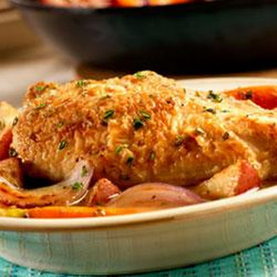 Pan Sauteed Chicken with Vegetables and Herbs