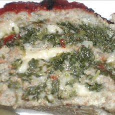 Cheese & Spinach Stuffed Meatloaf