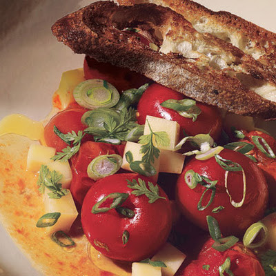 Caramelized Tomato Salad with San Simón Cheese