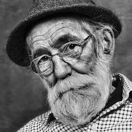 A Face of Wisdom by Bob Richards - People Portraits of Men ( models, peoples, male, wisdom, beard, older face, man, portrait )