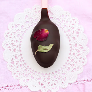 Chocolate and Roses Truffle Spoons