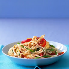 Asian Noodles with Chicken and Pineapple